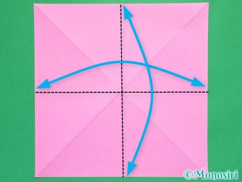 折り紙で立体的なリボンの折り方2