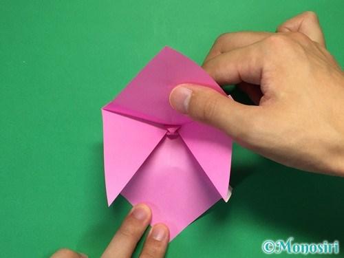 折り紙で立体的なリボンの折り方21