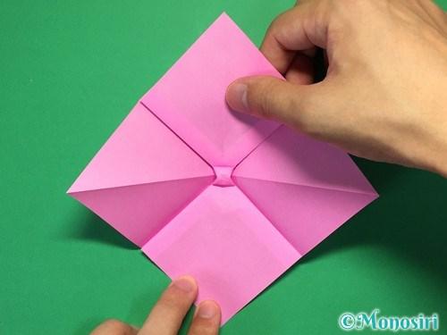 折り紙で立体的なリボンの折り方22
