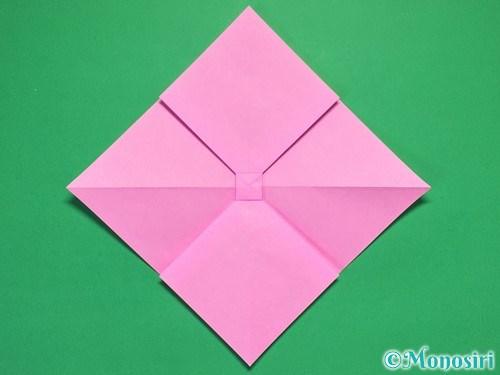 折り紙で立体的なリボンの折り方23