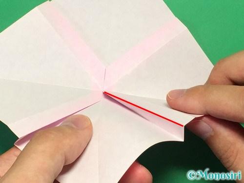 折り紙で立体的なリボンの折り方24