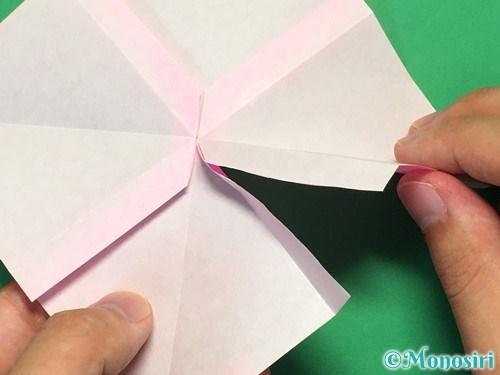 折り紙で立体的なリボンの折り方25