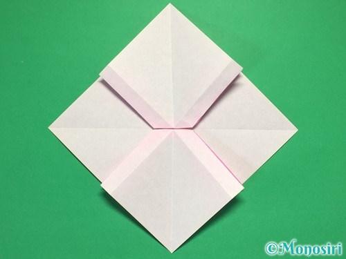 折り紙で立体的なリボンの折り方26