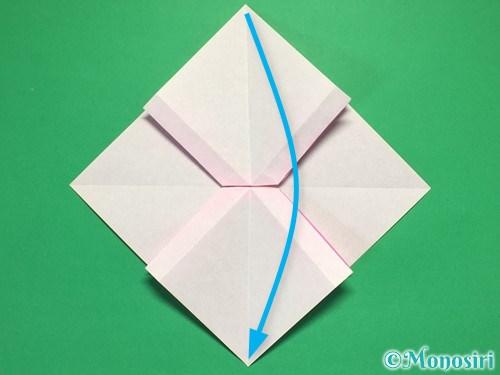 折り紙で立体的なリボンの折り方27