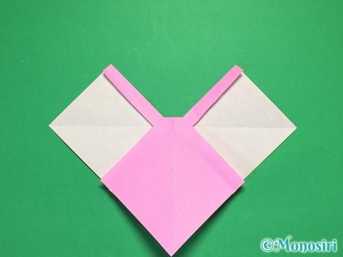 折り紙で立体的なリボンの折り方28