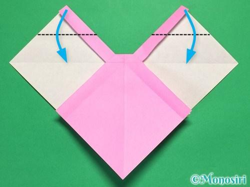 折り紙で立体的なリボンの折り方29