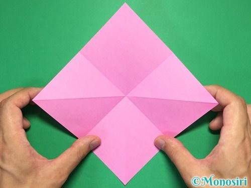 折り紙で立体的なリボンの折り方3