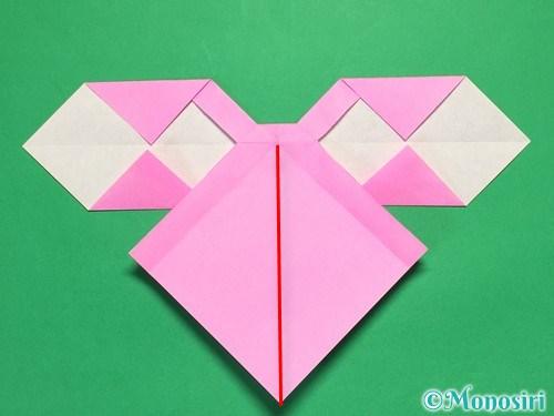 折り紙で立体的なリボンの折り方32