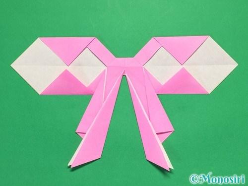 折り紙で立体的なリボンの折り方37
