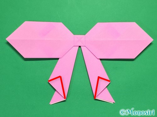 折り紙で立体的なリボンの折り方38