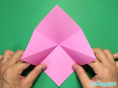 折り紙で立体的なリボンの折り方4