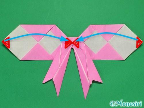 折り紙で立体的なリボンの折り方40