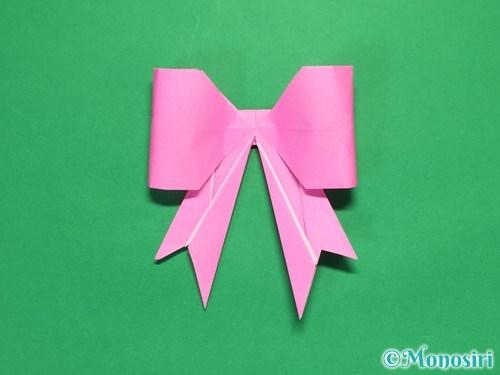 折り紙で立体的なリボンの折り方41