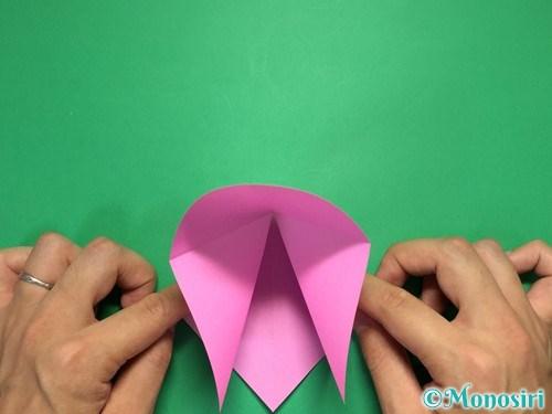 折り紙で立体的なリボンの折り方5