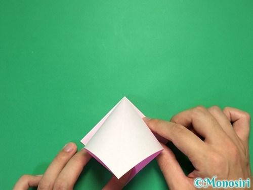 折り紙で立体的なリボンの折り方6