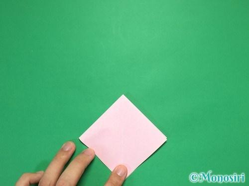 折り紙で立体的なリボンの折り方7