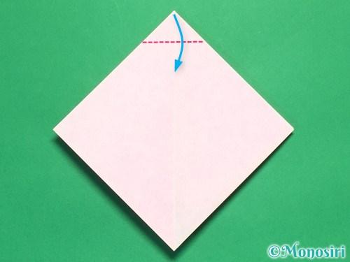 折り紙で立体的なリボンの折り方8