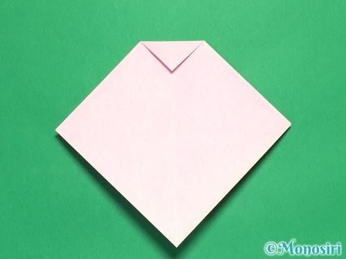 折り紙で立体的なリボンの折り方9
