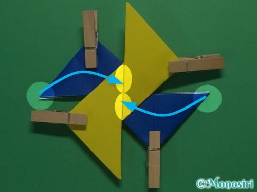 折り紙で簡単な手裏剣の作り方13