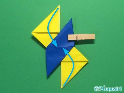 折り紙で簡単な手裏剣の作り方15