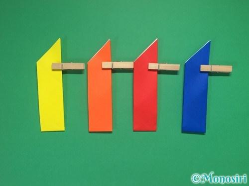 4枚の折り紙で手裏剣の作り方10