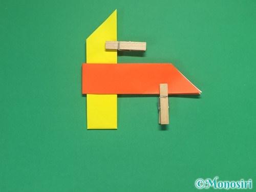 4枚の折り紙で手裏剣の作り方12