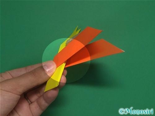 4枚の折り紙で手裏剣の作り方11