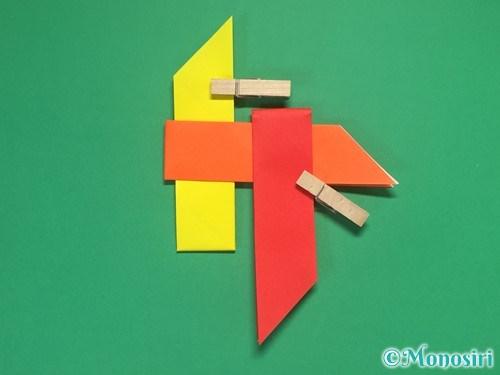 4枚の折り紙で手裏剣の作り方13