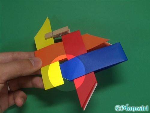 4枚の折り紙で手裏剣の作り方14