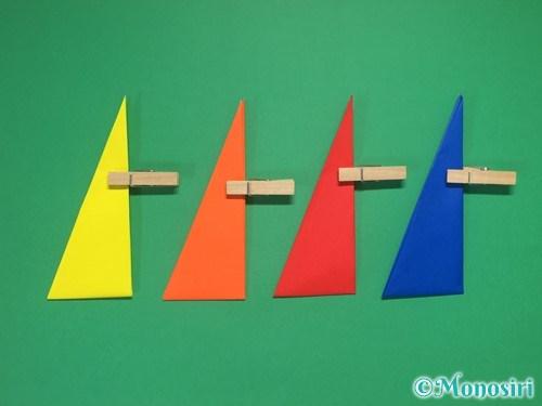 4枚の折り紙で手裏剣の作り方②10