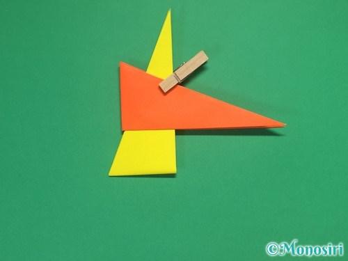 4枚の折り紙で手裏剣の作り方②12