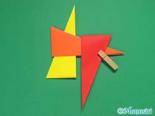 4枚の折り紙で手裏剣の作り方②13