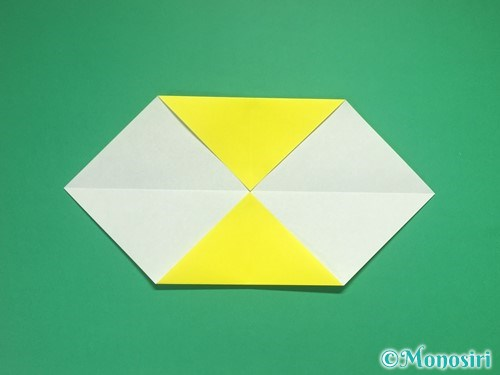 4枚の折り紙で手裏剣の作り方3