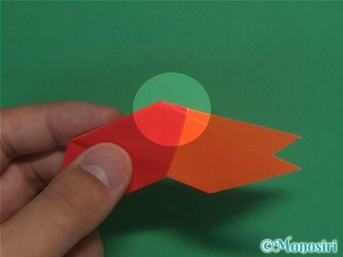8枚の折り紙で手裏剣の作り方12