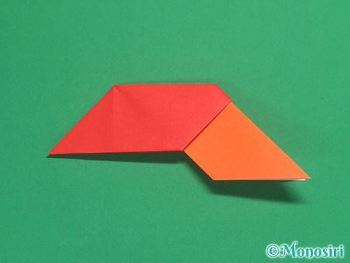 8枚の折り紙で手裏剣の作り方13