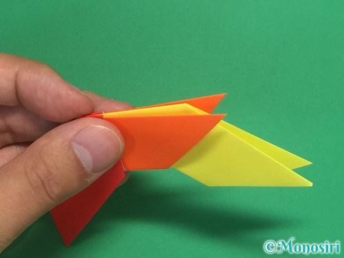 8枚の折り紙で手裏剣の作り方14