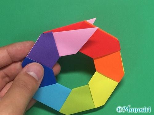 8枚の折り紙で手裏剣の作り方15
