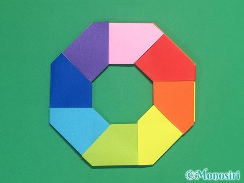 8枚の折り紙で手裏剣の作り方16
