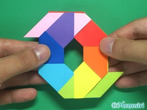 8枚の折り紙で手裏剣の作り方18