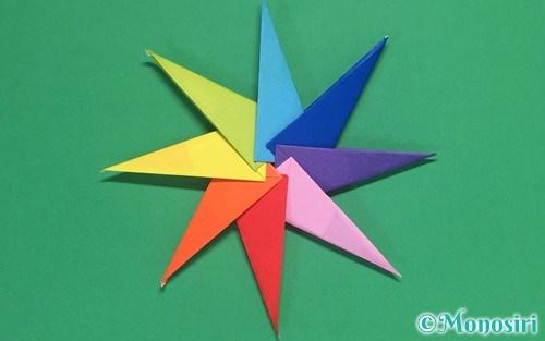 8枚の折り紙で作った手裏剣②