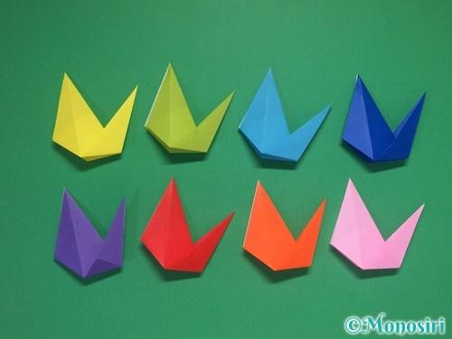 8枚の折り紙で手裏剣の作り方②18
