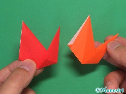 8枚の折り紙で手裏剣の作り方②19