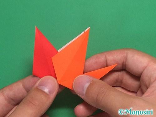 8枚の折り紙で手裏剣の作り方②20