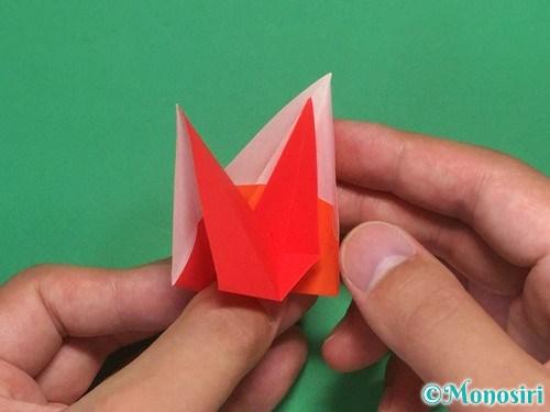 8枚の折り紙で手裏剣の作り方②21