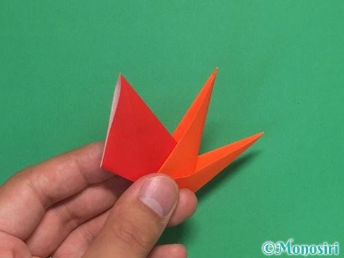 8枚の折り紙で手裏剣の作り方②23