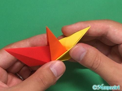 8枚の折り紙で手裏剣の作り方②24