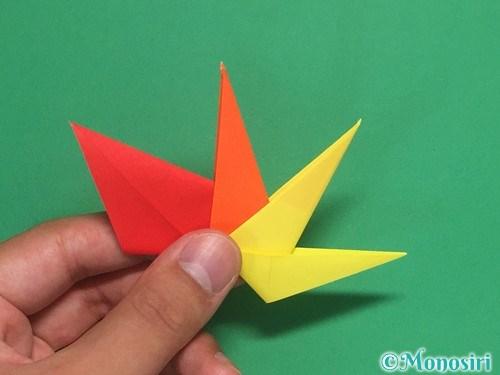 8枚の折り紙で手裏剣の作り方②25