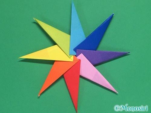 8枚の折り紙で手裏剣の作り方②27