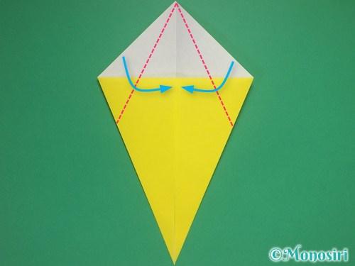 8枚の折り紙で手裏剣の作り方②4