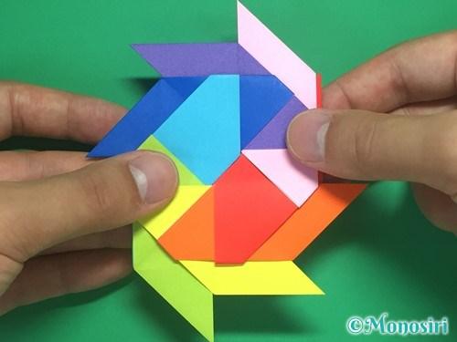 8枚の折り紙で手裏剣の作り方22